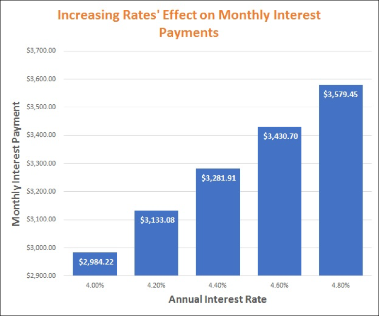 interest only loan repayment projection